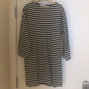 Everlane size 12 Long sleeve striped cotton dress